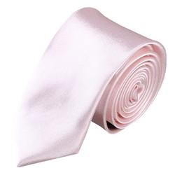 Fako Fashion® - Skinny Stropdas - Effen - 145cm - Pastel Roze