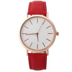 Fako® - Horloge - Rosé Goudkleurig - Ø 41mm - Rood