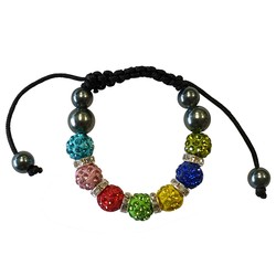 Fako Bijoux® - Armband - Disco Dots Ring Kids - Multicolor