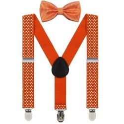Fako Fashion® - Kinder Bretels Met Vlinderstrik - Stipjes - 65cm - Oranje