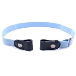 Fako Fashion® - Riem Zonder Gesp - Gespvrije Riem - Elastische riem - Rekbare Riem - Broekriem Zonder Gesp - Stretch Riem - Zwangerschapsriem - Lichtblauw