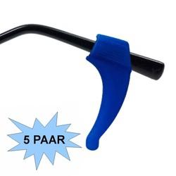 Fako Bijoux® - Anti-slip Oorhaakjes - Brilhaakjes - Siliconen - Blauw - 5 paar