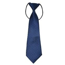 Fako Fashion® - Kinderstropdas - Print - Elastiek - Stipjes Navy Blauw