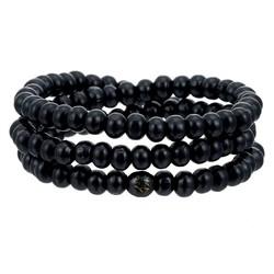 Fako Bijoux® - Buddha Armband - Sandelhout - Classic - 8mm - Zwart