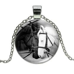 Fako Bijoux® - Ketting - Cabochon - Paardenhoofden