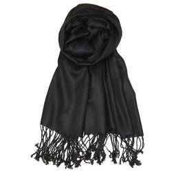 Fako Fashion® - Pashmina Sjaal - Lichte Shawl - 175x75cm - Zwart