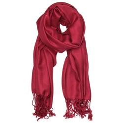Fako Fashion® - Pashmina Sjaal - Lichte Shawl - 175x75cm - Donkerrood