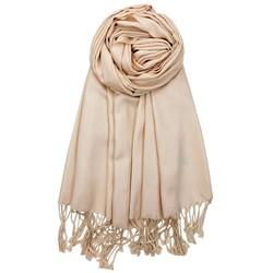 Fako Fashion® - Pashmina Sjaal - Lichte Shawl - 175x75cm - Beige