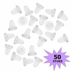 Fako Bijoux® - Oorbel Stoppers / Achterkantjes - Siliconen - 50 Stuks