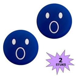 Fako Bijoux® - Tennisdemper - Emoji - Verbaasd Blauw - 2 Stuks