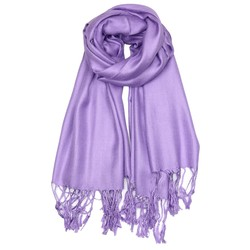 Fako Fashion® - Pashmina Sjaal - Lichte Shawl - 175x75cm - Lila Paars
