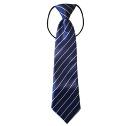 Fako Fashion® - Kinderstropdas - Print - Elastiek - Navy Blauw Wit Gestreept