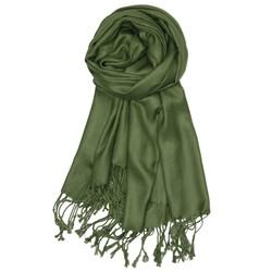 Fako Fashion® - Pashmina Sjaal - Lichte Shawl - 175x75cm - Mosgroen
