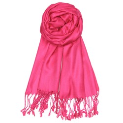 Fako Fashion® - Pashmina Sjaal - Lichte Shawl - 175x75cm - Donkerroze