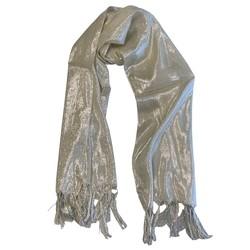 Fako Fashion® - Glitter Sjaal - Lichte Shawl - 175x50cm - Crème