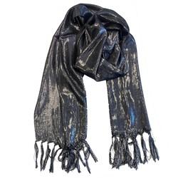 Fako Fashion® - Glitter Sjaal - Lichte Shawl - 175x50cm - Zwart