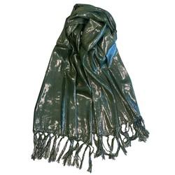 Fako Fashion® - Glitter Sjaal - Lichte Shawl - 175x50cm - Groen