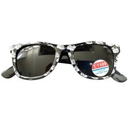 Zonnebril Automotief Zwart/Wit