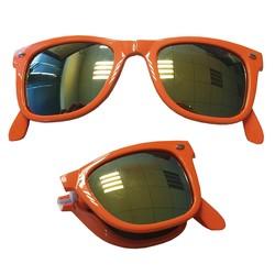 Zonnebril Wayfarer Life Is Short Opvouwbaar Oranje