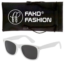 Fako Fashion® - Kinder Zonnebril - Wayfarer - Wit