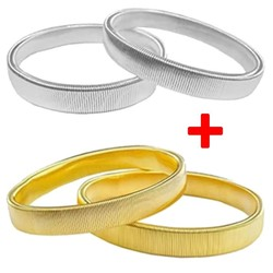 Fako Bijoux® - Set Van 2 paar Mouwophouders Goud & Zilver - 20cm - Metaal