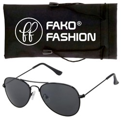 Fako Fashion® - Kinder Pilotenbril - Aviator Zonnebril - Zwart