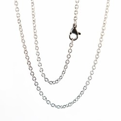 Fako Bijoux® - Ketting - RVS - Stainless Steel - 2mm - 50cm - Zilverkleurig