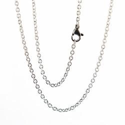 Fako Bijoux® - Schakelketting RVS - Ketting Staal - Stainless Steel - 2mm - 50cm - Zilverkleurig