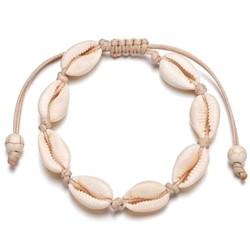 Fako Bijoux® - Schelpjes Armband - Schelpen - Wit