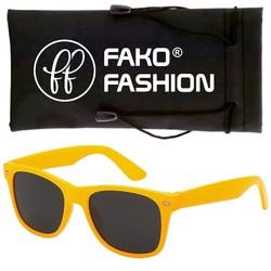 Fako Fashion® - Zonnebril - Wayfarer - Classic - Geel