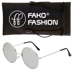 Fako Fashion® - John Lennon Kinder Zonnebril - Ronde Glazen - Zilver - Zilver