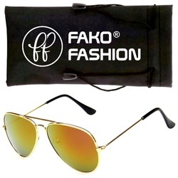 Fako Fashion® - Kinder Pilotenbril - Aviator Zonnebril - Goud - Goud