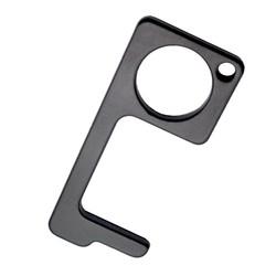 No Touch Key - Contactloze Deuropener - Antibacteriële Sleutelhanger - Hygiëne Sleutel - Zwart