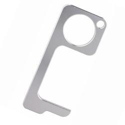 No Touch Key - Contactloze Deuropener - Antibacteriële Sleutelhanger - Hygiëne Sleutel - Zilver