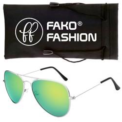 Fako Fashion® - Kinder Pilotenbril - Aviator Zonnebril - Zilver - Groen