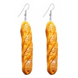 Fako Bijoux® - Oorbellen - Bakkerij - Stokbrood - 70mm