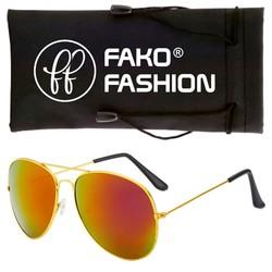 Fako Fashion® - Pilotenbril - Aviator Zonnebril - Goud - Rood