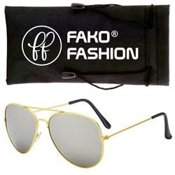 Fako Fashion® - Pilotenbril - Aviator Zonnebril - Goud - Zilver
