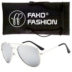 Fako Fashion® - Pilotenbril - Aviator Zonnebril - Zilver - Zilver