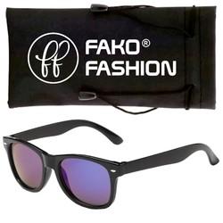 Fako Fashion® - Kinder Zonnebril - Wayfarer - Spiegel Paars