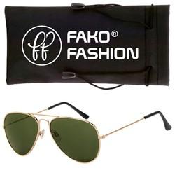 Fako Fashion® - Pilotenbril - Aviator Zonnebril - Goud - Donkergroen