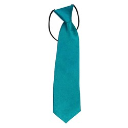 Fako Fashion® - Kinderstropdas - Effen - Elastiek - Turquoise
