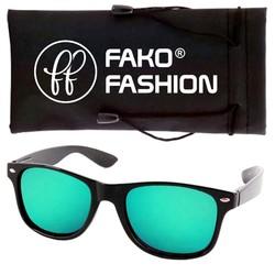 Fako Fashion® - Kinder Zonnebril - Wayfarer - Spiegel Aqua