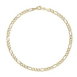 Fako Bijoux® - Enkelbandje - Figaro - Goudkleurig