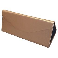 Fako Bijoux® - Brillenkoker - Opvouwbaar - 16x7x6.5cm - Goud