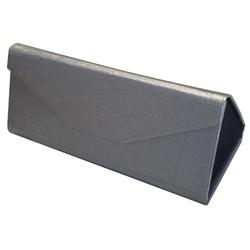 Fako Bijoux® - Brillenkoker - Opvouwbaar - 16x7x6.5cm - Zilver