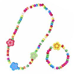 Fako Bijoux® - Kinderketting en Armband - Bloemen