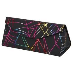 Fako Bijoux® - Brillenkoker - Opvouwbaar - 16x7x6.5cm - Spider - Zwart