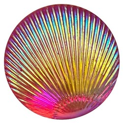 Fako Bijoux® - Click Button - Shiny Schelp - Roze