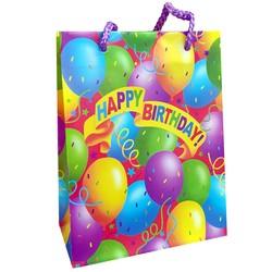 Fako Bijoux® - Cadeautasje - Geschenk Tas - Happy Birthday - 13x17x6.5cm - 5 Stuks